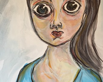Wide eyed girl