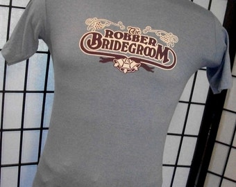 The Robber Bridegroom Burt Reynolds Dinner Theatre Sportswear blue 50/50 tee shirt medium m USA