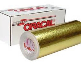 "Oracal 383 Cast Gold Ultraleaf 12""x 24"""