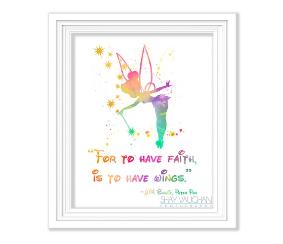 Tinkerbell Art Print Watercolor Painting For To Have