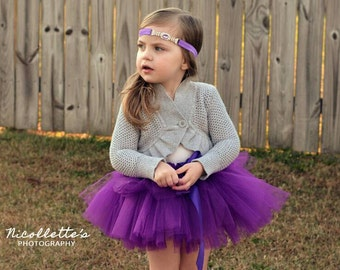 Dark Purple Tutu - Baby Infant Toddler Girl Tutu - Tutu Skirt - Birthday Tutu - Baby Shower Gift ~ Photo Prop