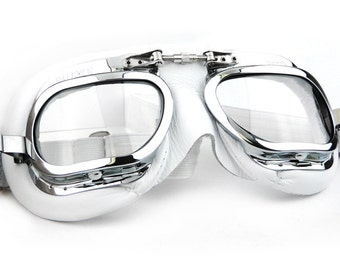 Mark 410 Motorcycle Goggles - white