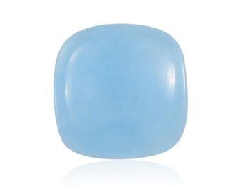 Blue Jade Dyed Cushion Cabochon Loose Gemstone 1A Quality 11mm TGW 5.40 cts.