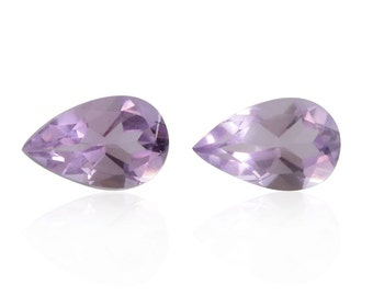 Pink Amethyst Pear Cut Set of 2 Loose Gemstones 1A Quality 8x5mm TGW 1.30 cts.