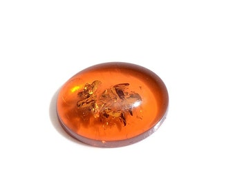 Amber Loose Gemstone Oval Cabochon 1A Quality 8x6mm TGW 0.50 cts.