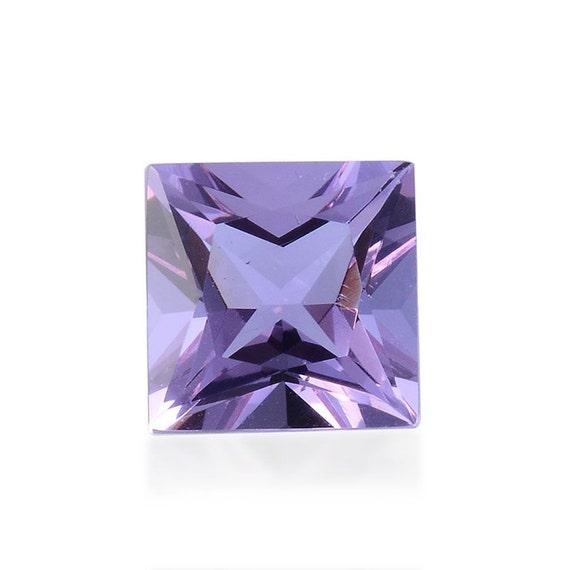 lavender alexite synthetic color change gemstone square