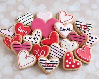 Assorted Heart Sugar Cookies {2 Dozen}