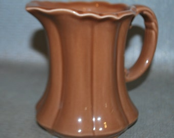 Vintage Brown Scalloped Pitcher