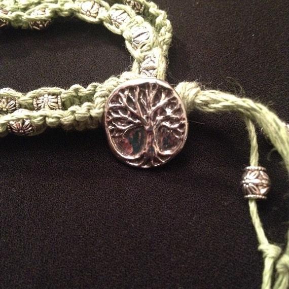 family tree hemp macrame bracelet by sparklesbythesea on etsy