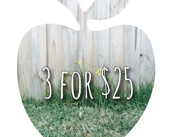 3 Bibs for 25