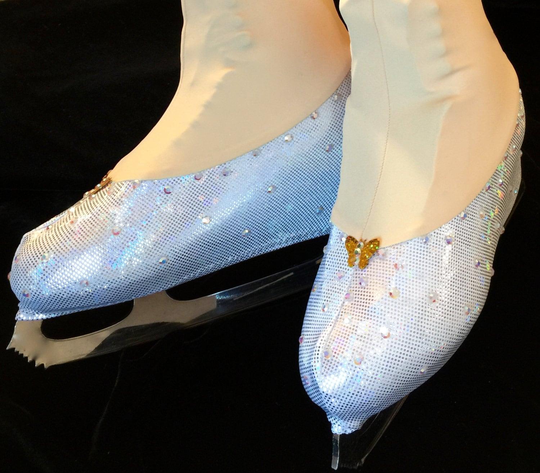 Roller skates for figure skating - Cinderella Glass Inspired Skate Boot Covers Figure Skating Boot Covers Ice Skating Boot Covers