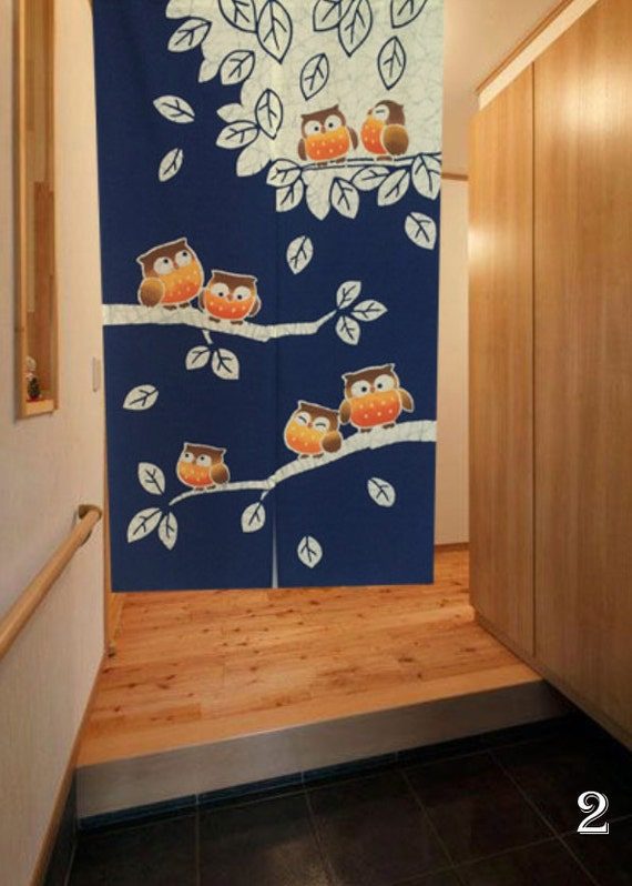 Window Curtain Cafe Curtain Door Panel Japanese Style Feng