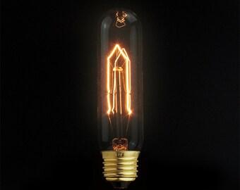 Edison E27 Tubular Spiral Filament- edison light bulb - 110V & 220V -  - antique bulb - industrial pendant lighting - vintage bare bulb