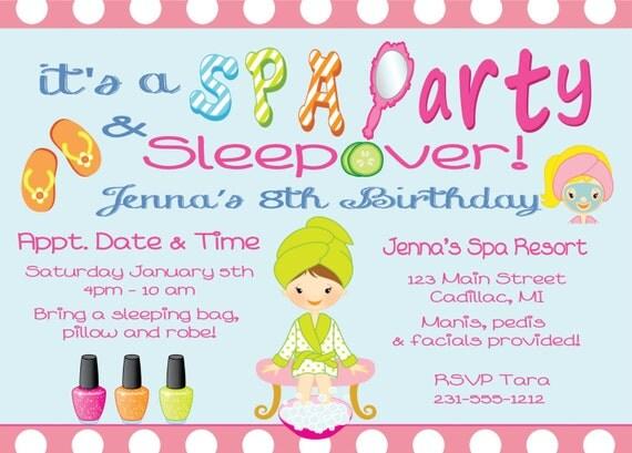 Pajama Invitations with amazing invitation layout