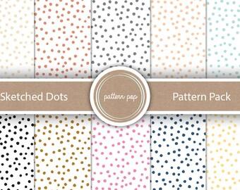 Polka Dot Digital Papers - Digital Scrapbooking, Backgrounds