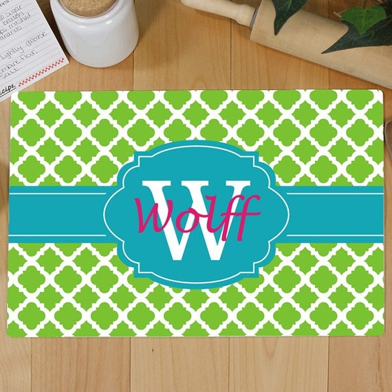 Personalized cutting board monogram cutting board by alloragifts - Tempered glass cutting board personalized ...