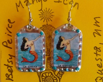 La Sirena Tin Earrings