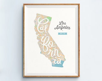 Los Angeles Print - Los Angeles Art - Los Angeles Poster