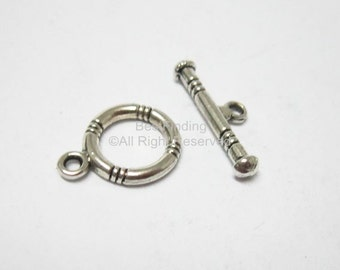 10sets Ring toggle clasp Antique silver Toggle clasps Bracelet or necklace connector