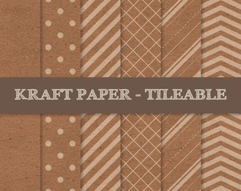 Kraft Digital Paper ~ Brown Kraft Paper Tileable ~ Brown Kraft Paper Seamless Pattern ~ Cardboard Paper Texture Background; INSTANT DOWNLOAD
