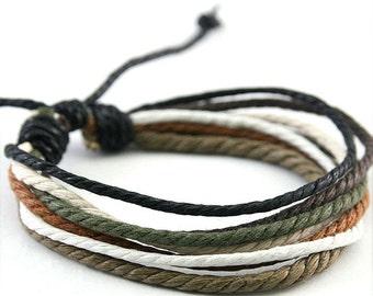 Handmade Hemp Bracelet Multi Color Wrap Wrist Braclet HB-2