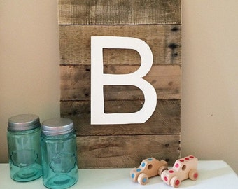 Rustic home decor - rustic sign - intial sign