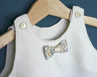Off-white linen baby dress / ceremonial dress