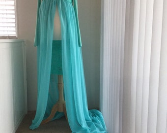 Radiant blue chiffon maternity gown with long sleeves, Long sleeves Maternity Dress, Short sleeves chiffon maternity gown