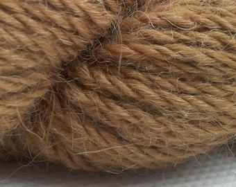 Scottish Alpaca DK Yarn in Natural Caramel colour - not dyed.