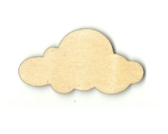 Cloud - Laser Cut Out Unfinished Wood Shape Craft Supply SKY26