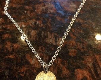 Namibia 5 cents coin necklace