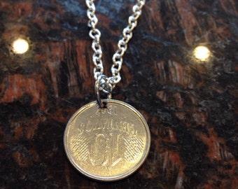 Brazil 10 centavos coin necklace