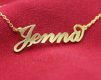 Personalized Name Necklace, 18K Gold Plated Name necklace