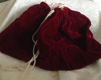 Burgandy Velvet Gift Bags  2