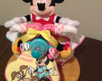 Minnie Mouse & Fifi Diaper Tricycle