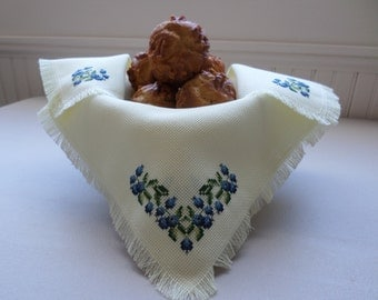 Blueberry Bread Cloth - Basket Liner or Shelf Decor