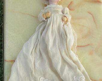 Antique German Bisque Head Character Doll Heubach Square Mark 7602