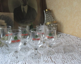 Belgian Beer Glasses Vieux Temps 6 glasses in Box New