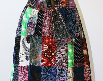 Batik Patchwork Skirt