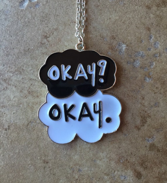 Fault in our stars okay cloud necklace by BilingualBunny ...