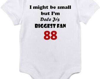 ON SALE Dale Jr Jrs 88 little fan Shirt onesie you pick size newborn / 0-3 / 3-9 / 12 / 18 24 month