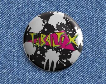 Tabaltix bleach logo Psychobilly button