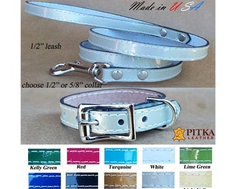 Small Dog Collar - Small Dog Collars and Leashes - Leather Puppy Collars - Puppy Leashes - Dog Collars and Leashes for Small Dogs