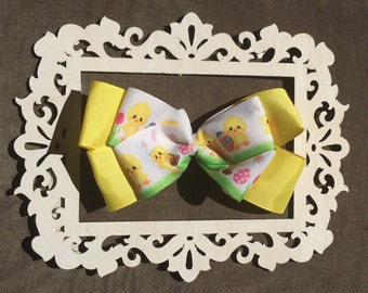 Yellow Easter Baby Chick Bow
