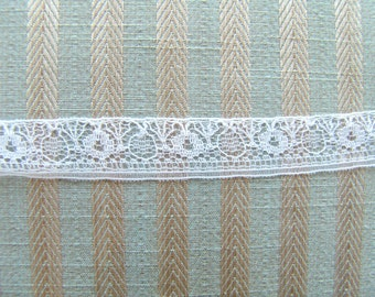 4.25 yds 1/2 in White Lace Trim Vintage