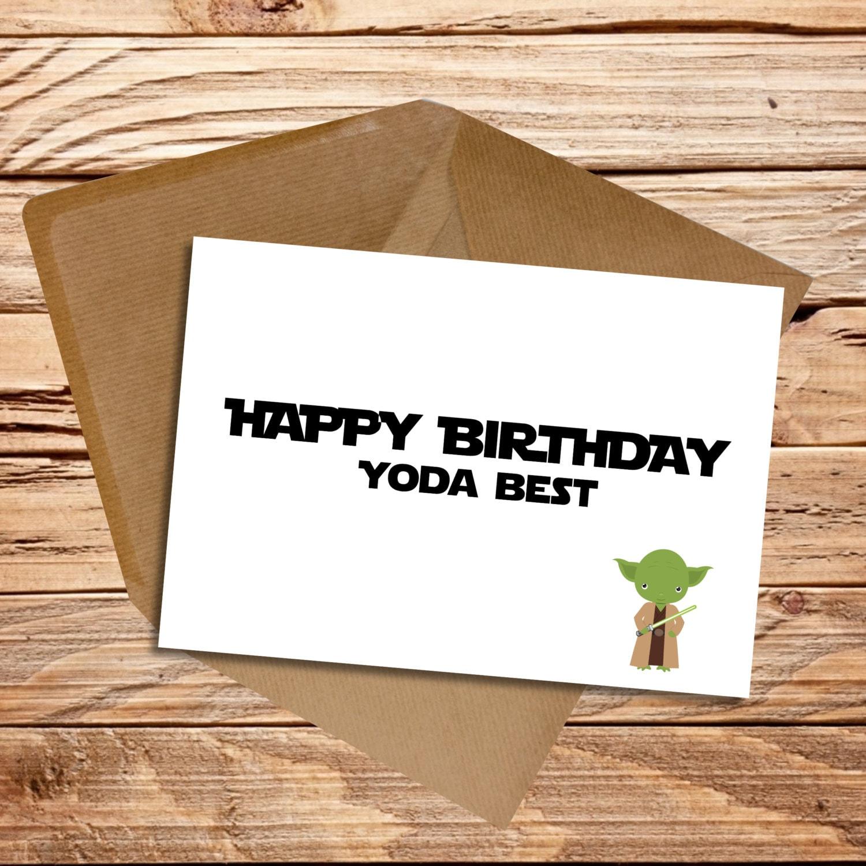 Star Wars Fan Happy Birthday Card Yoda Best By