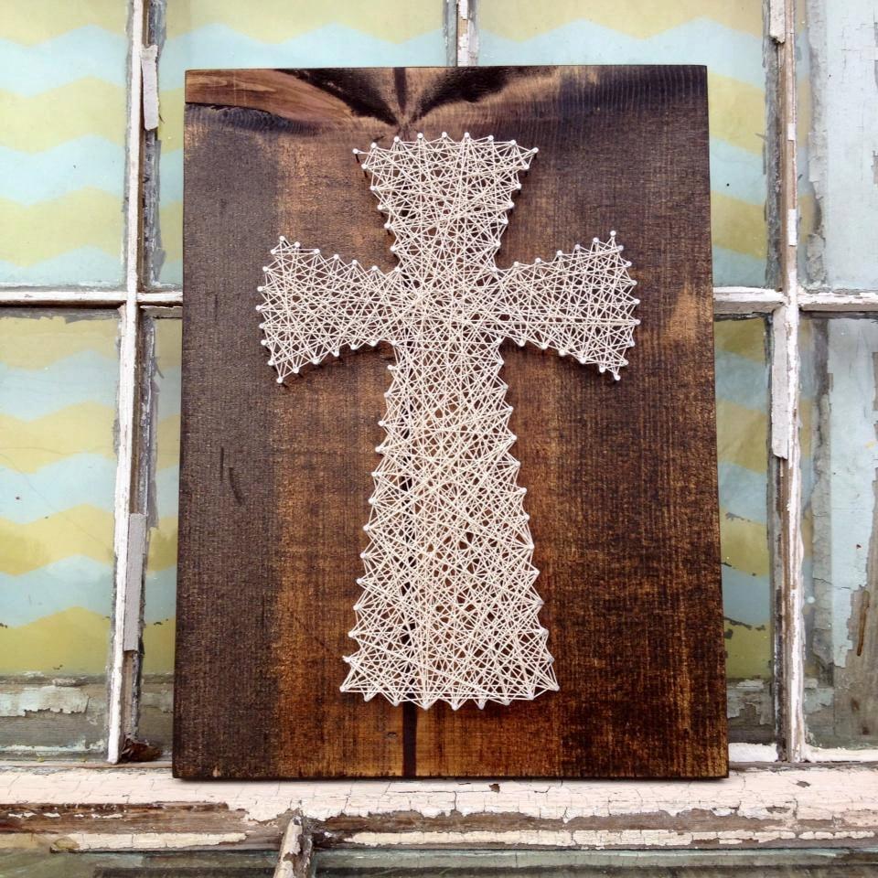 string art cross string wall art christian string art. Black Bedroom Furniture Sets. Home Design Ideas
