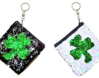 Sequin Beaded Key chain Coin Purse # KCP22