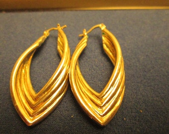 Vintage High Fashion 952 Sterling Silver Drop Earrings Great Condition Hallmarked 925 Weight 6.5 Grams