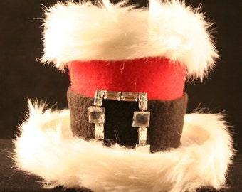 Fur Trimmed Santa Mini Hat